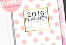 Beautiful 2016 planners ♡ / Planners you can either purchase and download, order, or even download for free!