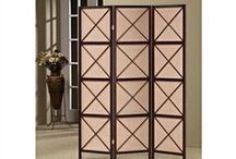 Home Office Furniture / A beautiful wood framed Divider Screen crafted with wooden screens. With this folding screen spread out in your living room, bedroom or home office,