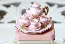 Sweet cups n saucers / Nothing finer than to sip tea From a sweet cup made of china / by Lulu Cavill