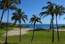 Sitios arqueológicos de Isla de Pascua / Principales restos arqueológicos de la Isla de Pascua, moais, plataformas ceremoniales y antiguas construcciones de la cultura Rapa Nui