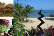 BELIZE! Beach Vacations Rentals: Casa Beya & The Seagrape Escape / ON THE SAND! 2 houses, side-by-side, with a shared Dock. In the quiet community of Maya Beach, 8 mi from Placencia.