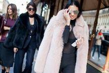 FURRY WEAR / Fur & faux fur jacket & west