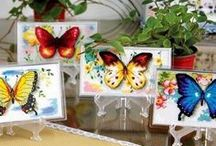 Cross Stitch Butterflies / by Cross Stitch & Cute Animal Addict