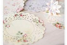 Autour des napperons & Doily craft