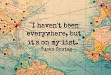"""Wanderlust: Travel Inspiration / """"Not all those who wander are lost."""": J.R.R. Tolkien. Travel quotes, places to visit and other inspiration!"""