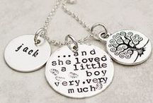 Personalized Gifts for Moms / Celebrate a love of motherhood with hand stamped jewelry! Moms rule!