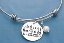 Personalized Wedding Party Gifts / A big day deserves a unique gift! Hand stamped charms, necklaces and more for Weddings....and beyond.