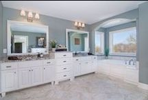 Custom Baths | Bathroom Ideas / Creek Hill Custom Homes' Bathrooms - Ideas and Inspiration for Bathtubs, Cabinetry, Sinks, Showers, Counter Tops, & More