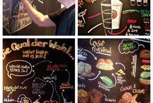 KreideArt / KreideArt, Chalk art, Kreidetafeln als Werbeträger. Schildermaler, sign, Handwerk