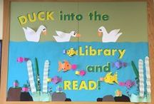 Library Displays / Fun, engaging displays to entice readers at the library!