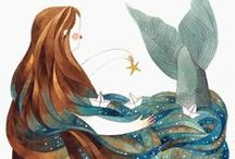 I must be a mermaid... / ...I have no fear of depths and a great fear of shallow living. (Anais Nin)