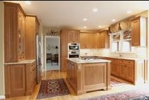 Cherry Wood Kitchens / Kitchens that we have remodeled that have stained cherry wood cabinets
