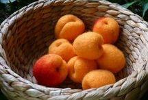 Fruits en laine cardée / Fruits du verger en laine cardée