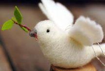 Zanimos en laine cardée / A plumes, à poils ou à nageoires... voici le petit parc zoologique Ô Merveille en laine cardée.