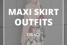 Maxi Skirt Outfits / This board collects all amazing assembles with skirts that is gonna make you sway.