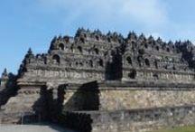 Indonesia: Estupa de Borobudur (isla de Java) / Bello monumento budista de Java