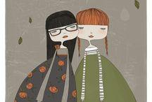 Tinke and Caroline / Things we share......