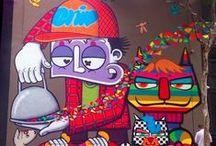 Arte na rua - Grafitte / O que encanta aos olhos e colore a alma - Arte de Rua na Rua