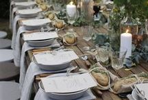 A TABLE - WEDDING TABLESETTINGS