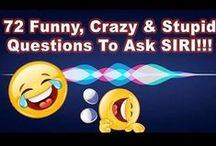What To Ask Siri / Contributors please Only Pin 5 Pins at one time- no 24 Hour Limit. Please only post interesting Siri questions and responses. Please do not add giveaways, products,affiliate links, Etsy,or marketing pins ! All Pins should go directly to post links. !! **Please DO NOT Add Others To This Board !! Thanks & Enjoy ! What to ask Siri? This is a collection of some of the funniest, silliest, stupid and most awesome Siri Questions and responses you'll ever see!
