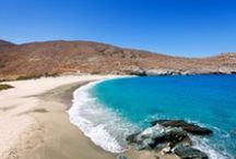 Beatiful Bays in Andros / #Andros is the northernmost island of the renowned #Cyclades Islands cluster located in the deep blue #Aegean Sea. Its surface is for the most part mountainous, with many fruitful and well-watered valleys.