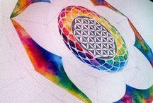 Geometry!!! / Sacred geometry Inked geometry Powerfull watercoloured geometry!!