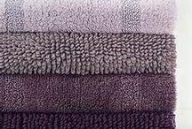Soft plum colored bath / Purple and plum bath ideas