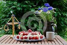 Midsummer in Sweden / Stockphotos of midsummer celebration in Sweden