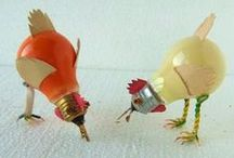 Recycled Light Bulbs / Gotta light bulb that has burned out?  Don't toss it - turn it into some creative and beautiful art!  Then come see us at House Electric and we will help you find a replacement bulb for you fixture!