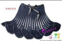 Crochet, knitted skirts