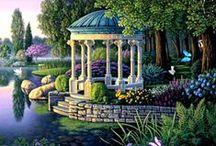 Bajeczne ogrody / Prawdziwe i nierealistyczne piękne ogrody, również niesamowite kwiaty i inne rośliny.