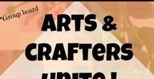☮️☮️ ☮️ Arts & Crafters Unite- Crafters, Entreprenuers, and free tutorials of all things art / Group board for artists and craft lovers. Arts & crafts of all kinds that you can enjoy as a hobby, learn how to sell your own art, find quality tools & supplies, and offer free tutorials to help create a fun and supportive community for crafters of all kinds. If you don't see your craft, add a section- let's make this board an awesome resource for the arts. #artsandcrafts #creativeentreprenuer