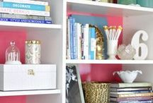 Bookcase Styling & Shelves / Build Your Own Bookcase and Style it like a Professional. / by Lynne Hollingsworth