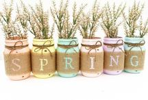 Springtime / Decorating and Craft ideas for Spring, Easter and Valentines Day.