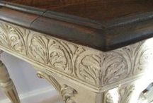 DIY 2-Tone Furniture Finishes / 2-TONE FINISHES:  Chalk Paint, Latex Paint, Oil Paint Plus Stain / by Lynne Hollingsworth