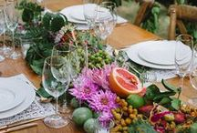 Garden Party / All things garden party from tea cup floral arrangements and mason jar drinks to blooming jewelry and outdoor lighting.
