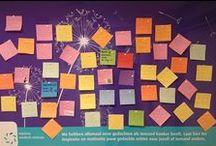 Inspiratiebord MOC / We hebben allemaal onze gedachten als iemand kanker heeft. Schrijf ook jouw gedachten op en wij plakken ze ter inspiratie en motivatie op het Máxima inspiratiebord in ons Máxima Oncologisch Centrum. (moet op een memo passen)