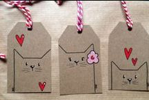 DIY Gift Tags / Love to make my own gift tags. Way better than buying them!