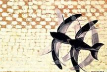 "Giacomo Balla / Balla felt a positive need to extend his interests from the canvas to his environment, exploring the subject of dress as a medium for expressing his Futurist ideas. Focusing more on male clothing, he stated the tenets od modernity in his ""Manifesto of Anti-Neutral Clothing', which aimed to bring disorder to the logic & comunication of clothing. Asymetry, clashing colours, juxtaposed forms that opposed tradition & convention."