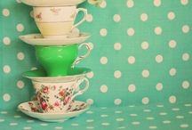 A Party of Tea Cups / So pretty I can cry.