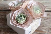 Handmade flowers - tutorials, inspiration