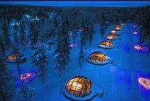 The iconic Glass Igloos of Kakslauttanen / Iconic Glass Igloos at Kakslauttanen Arctic Resort