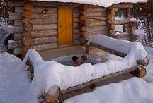 Luxurious Queen Suites at Kakslauttanen Arctic Resort / Our luxurious Queen Suites, Kakslauttanen Arctic Resort. Lapland, Finland.
