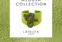 Medusa Collection - Kiwi Green / Whether you name it galuchat or stingray, it is the leather of a million stars...