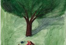 trees / trees in art paintings, illustrations, photography