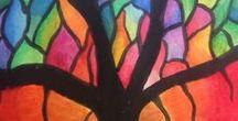 Kunst for barn art kids / Kunstoppgaver for barn - 2 dimensjonale oppgåver