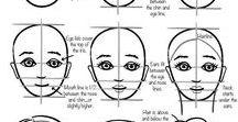 Tegne ansikt portrett / Lære å tegne et ansikt med rette proporsjoner , lage portrett som Picasso , Matiss etc