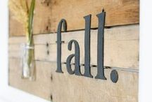 Fall Decor / Burlap, fall colors, and pumpkins galore - I love fall decor!  / by A Prudent Life