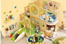 HABA Childrens Lofts / Commercial designed play areas for children from HABA.