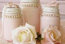 Jars,glasses,bottles / Ideas and decorating of jars, wine and champagne glasses, and bottles / by Martinel Art